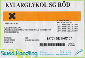 Long-Life (rödfärgad, etylen) Glykol 25L